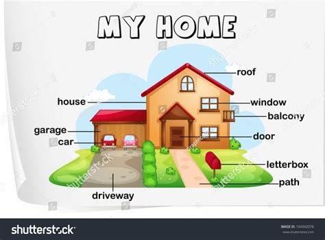 illustration parts house stock vector 104942078