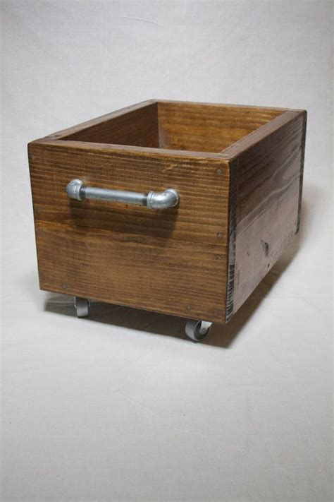 industrial storage box  wheels heavy wood storage bin