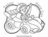 Coloring Race Cars Preschool Zoom Cool sketch template
