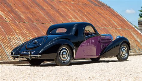 Twin cam, supercharged straight 8. 1938 Bugatti Type 57 Atalante Coupé by Gangloff - for sale at The Classic Motor Hub