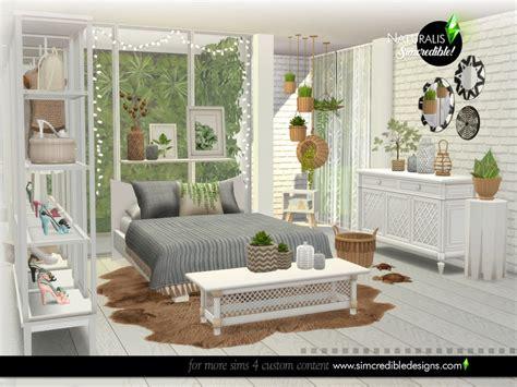 naturalis bedroom  simcredible  tsr sims  downloads
