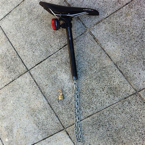 integriertes fahrrad sattel stuetze schloss wiseidum