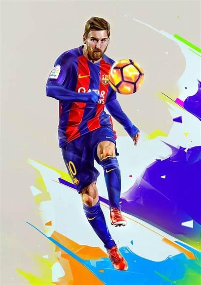 Illustration Football Action Players Portraits Denis Nani