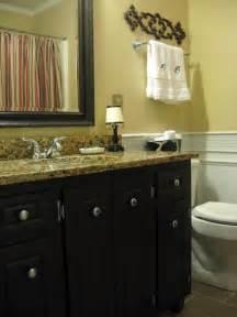 Black Painted Bathroom Cabinets