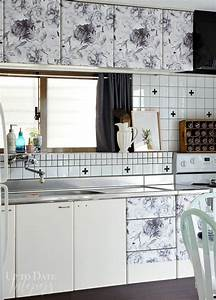 20 ways you never thought of using wallpaper hometalk With what kind of paint to use on kitchen cabinets for diy metal wall art