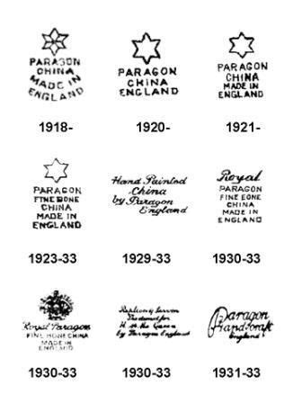 paragon backstamps  porcelain english pinterest