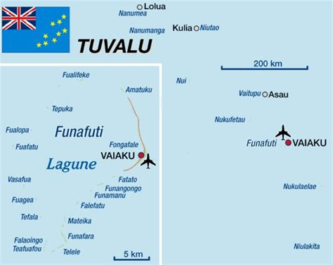 Tuvalu Islands map