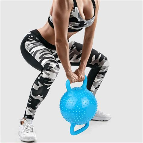 water massage filled bell kettlebell kettle double weight yoga pilates workout handle training adjustable dumbbell pvc fitness 12lb resistant wear