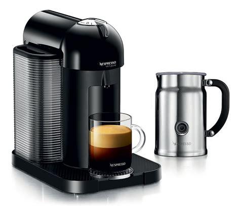espresso and coffee maker nespresso vertuoline coffee espresso maker with aeroccino plus milk frother black cutlery