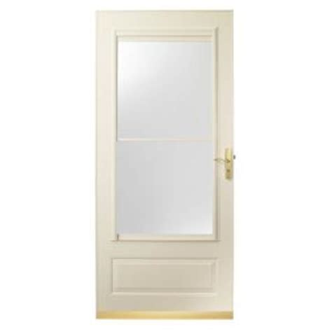 emco 400 series door emco 36 in x 80 in 400 series almond aluminum self