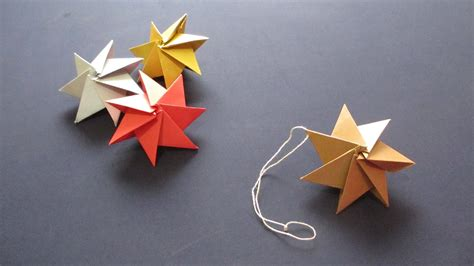 how to origami ornament christmas star クリスマスオーナメント