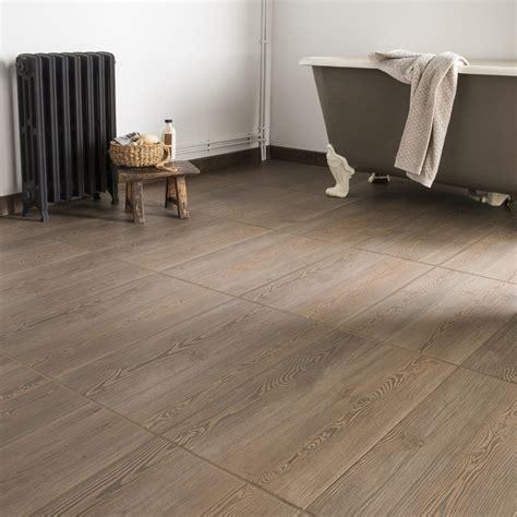 Carrelage sol et mur taupe effet bois Aspen l.31 x L.60 cm | Leroy Merlin