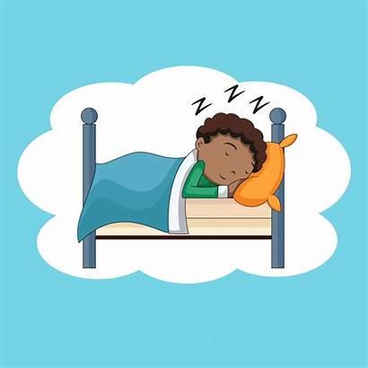 Sleeping Boy Dad Alone Illustration Break Child
