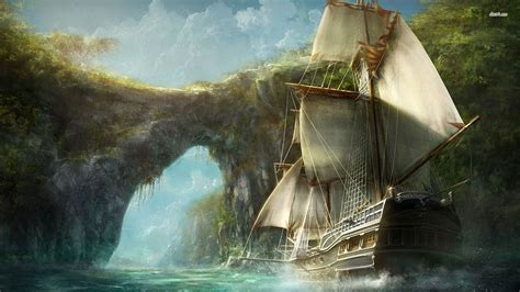 fantasy ship wallpaper     stmednet