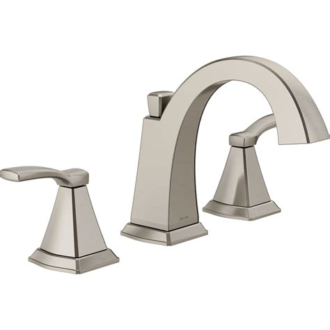 how to install a delta kitchen faucet shop delta flynn brushed nickel 2 handle widespread