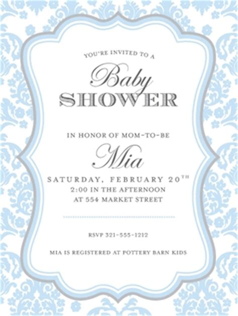 babies children baby shower invitations darling damask