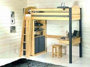 Lit Demi Hauteur : lit bureau escamotable good lit with bureau mural lit ~ Premium-room.com Idées de Décoration