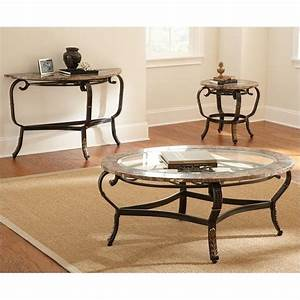 steve silver company gallinari 3 piece brown marble veneer With 3 piece marble coffee table set