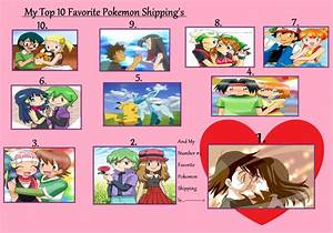My Top 10 Favorite Pokemon Shipping s