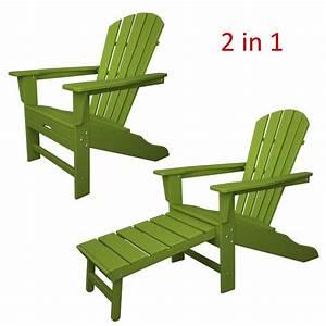 Adirondack Chair Kunststoff : polywood adirondack chair liegestuhl mit fussteil limettengr n casa bruno deckenventilatoren ~ Frokenaadalensverden.com Haus und Dekorationen