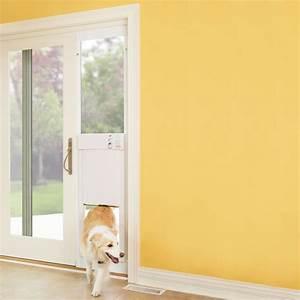 sliding glass dog door all design doors ideas With electronic dog door installation