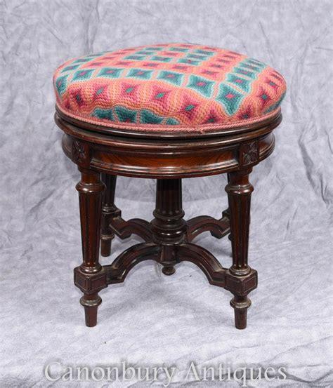 tabouret de piano victorien antique hauteur r 233 glable rosewood