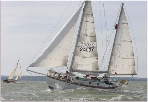 Knox Boat Fishing Club by Sir Robin Knox Johnston On Suhaili At The Hamble Classics