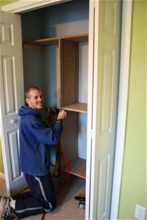 woodwork build own closet system plans pdf free