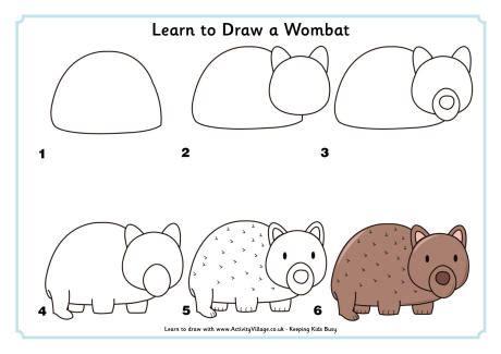 learn  draw  wombat
