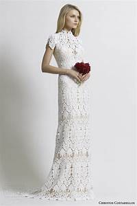 Christos costarellos 2014 wedding dresses wedding inspirasi for Guipure lace wedding dress