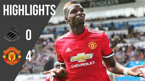 Swansea 0-4 Manchester United   Premier League Highlights ...