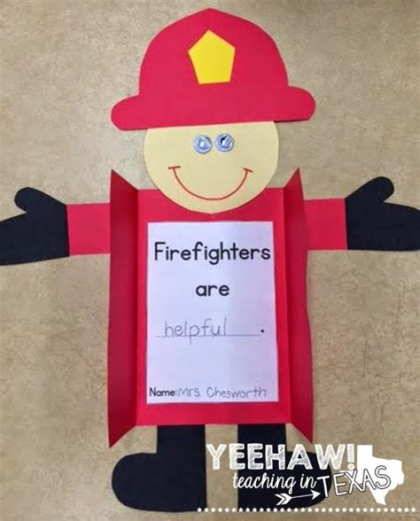firefighter preschool firefighter craft and differentiated writing activities 706