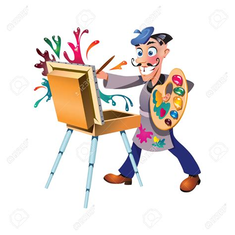 artists clipart artistic clipart exhibition pencil and in color