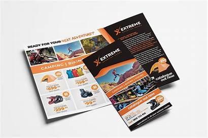 Brochure Fold Tri Template Sports Outlet Brandpacks