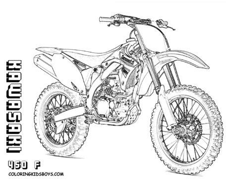 Coloriage Motocross Kawasaki Dessin Gratuit à Imprimer