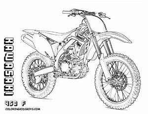 coloriage motocross kawasaki dessin gratuit a imprimer With honda 400 dirt bike