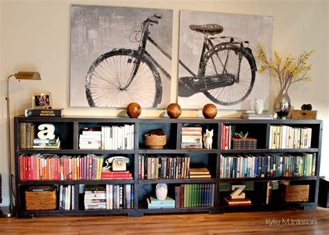 house and home decor ideas to personalize a home with home decor and books on a