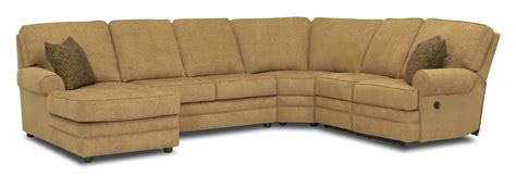 90 inch sofa with chaise reclining sectional with left side chaise by klaussner