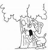 Dog Barking Coloring Drawing Bark Sketch Tree Printactivities Getdrawings Paintingvalley Template sketch template