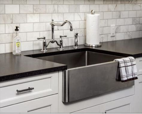 black stainless farmhouse sink befon for
