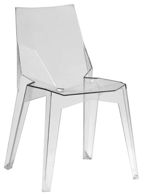 clear plastic chair set of 4 modern dining