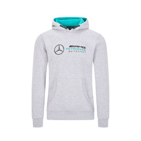 This hoodie from the collection is the perfect example. Mercedes AMG Petronas Hooded Sweat - Grey