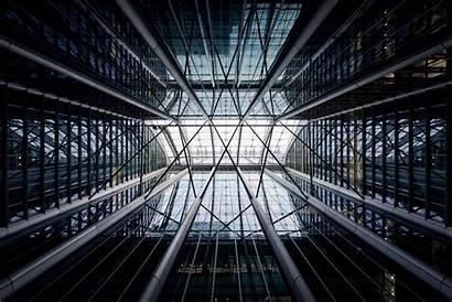 Architecture Building Steel Structure Interior Papel Gray
