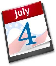 July 4th Calendar Clip Art
