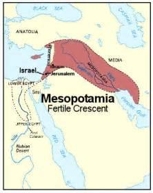Fertile Crescent and Mesopotamia Map