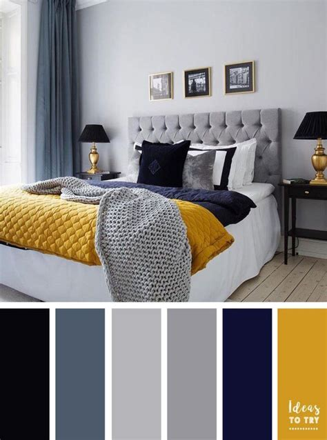 color schemes   bedroom greynavy blue