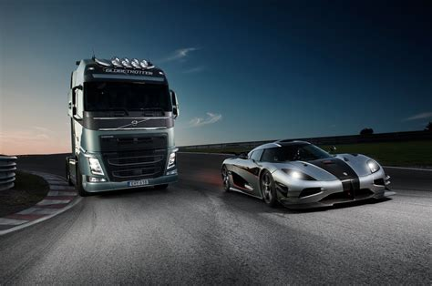 volvo trucks volvo trucks volvo trucks vs koenigsegg a race between
