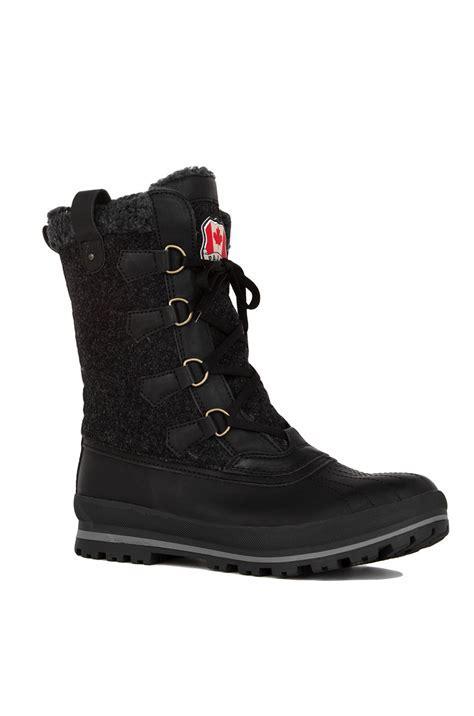 pajar hirica low boots in black