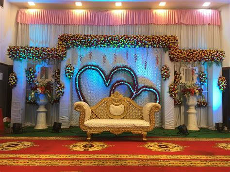 heart shape wedding reception stage backdrop stage