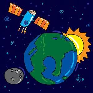 Pin Cartoon Space Image And Satellite 16096 12jpg on Pinterest